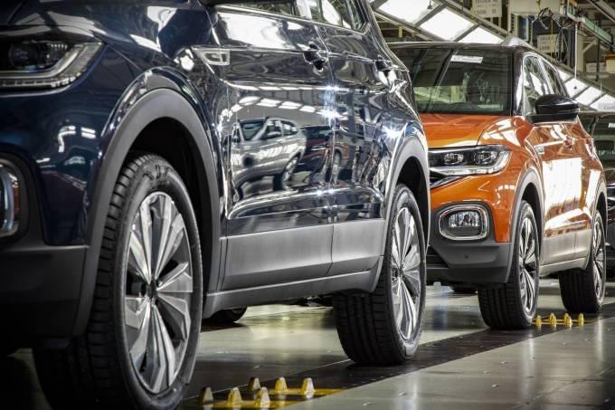 Linha de montagem do VW T-Cross em São José dos Pinhais (PR)