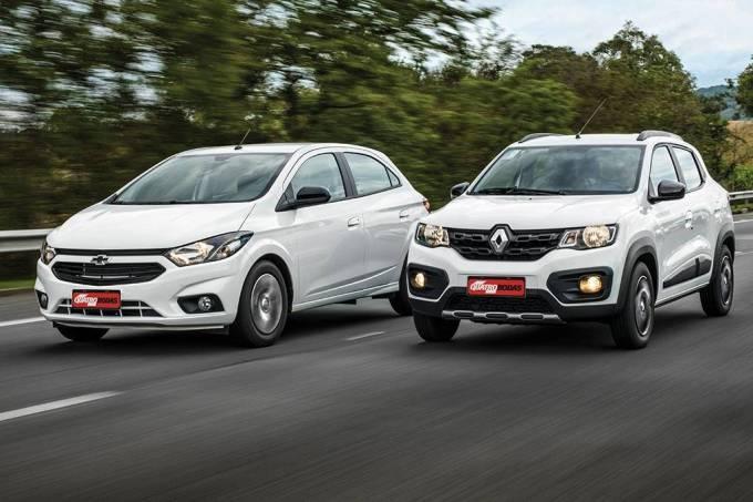 Comparativo Chevrolet Joy x Renault Kwid