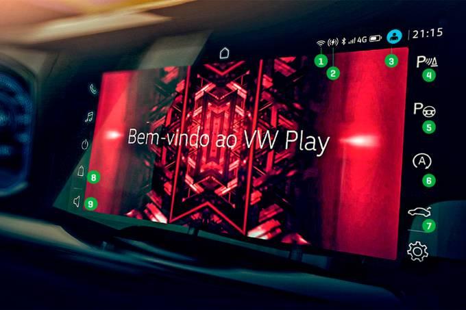 VW Nivus central multimídia segredos