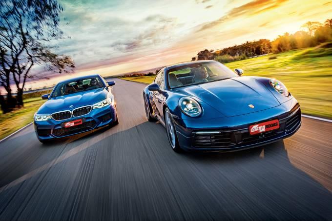 BMW M5 X Porsche 911