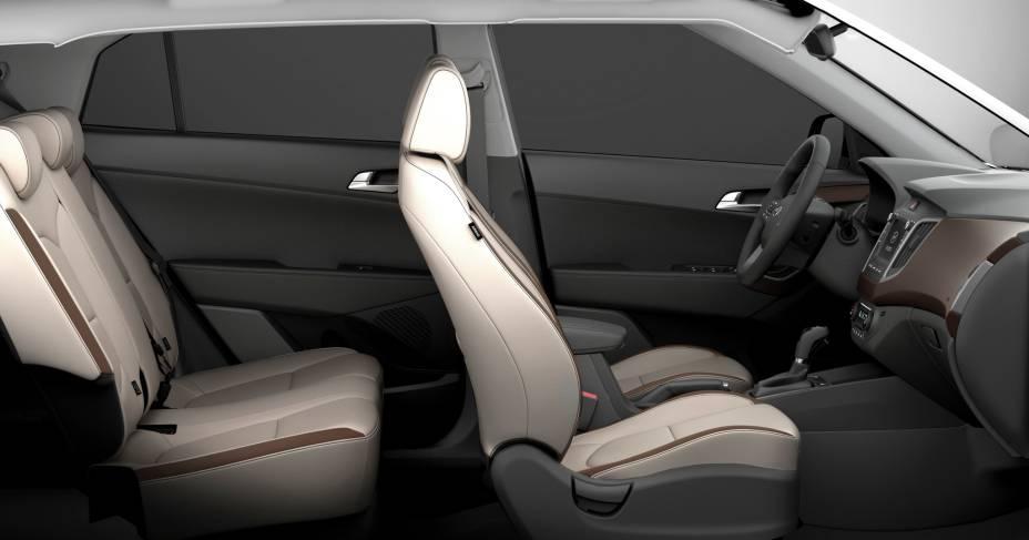Nenhum outro SUV compacto tem banco do motorista ventilado. Atrás, saídas de ar-condicionado independentes