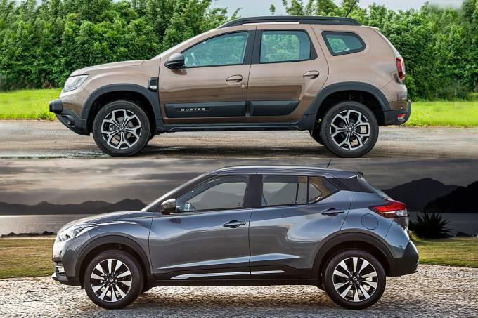 Renault Duster e Nissan Kicks