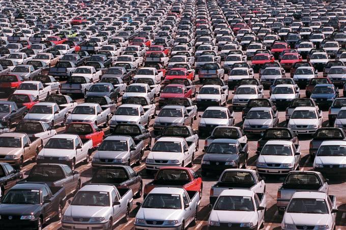 Patio Volkswagen lotado