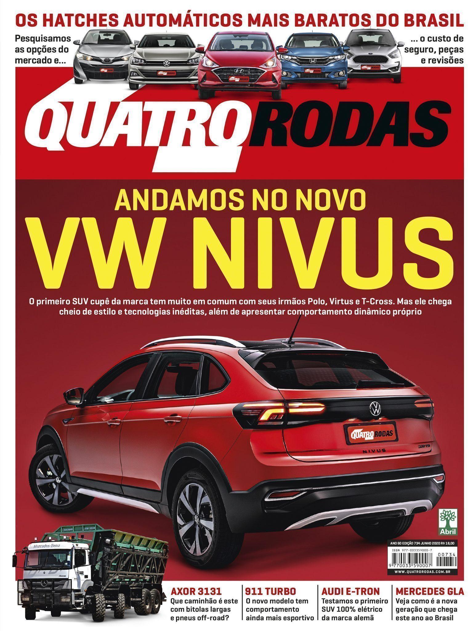 Capa da revista quatro rodas andamos no novo VW Nivus