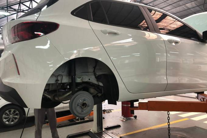 Freio traseiro do Chevrolet Onix