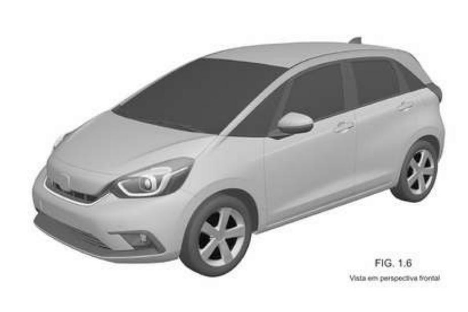 """Honda Fit japonês com cara """"fofa"""" é registrado no Brasil, mas não se anime"""