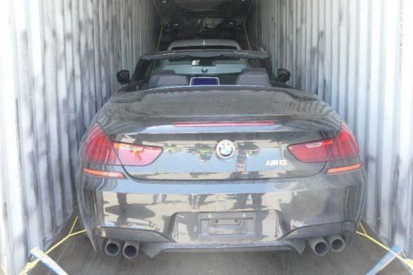 40 carros de luxo de R$ 11 milhões roubados são achados em contâineres
