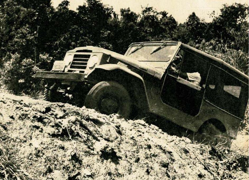 Toyota Bandeirante testado em 1964