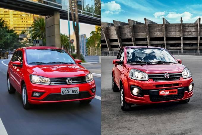 VW Gol e Fiat Uno