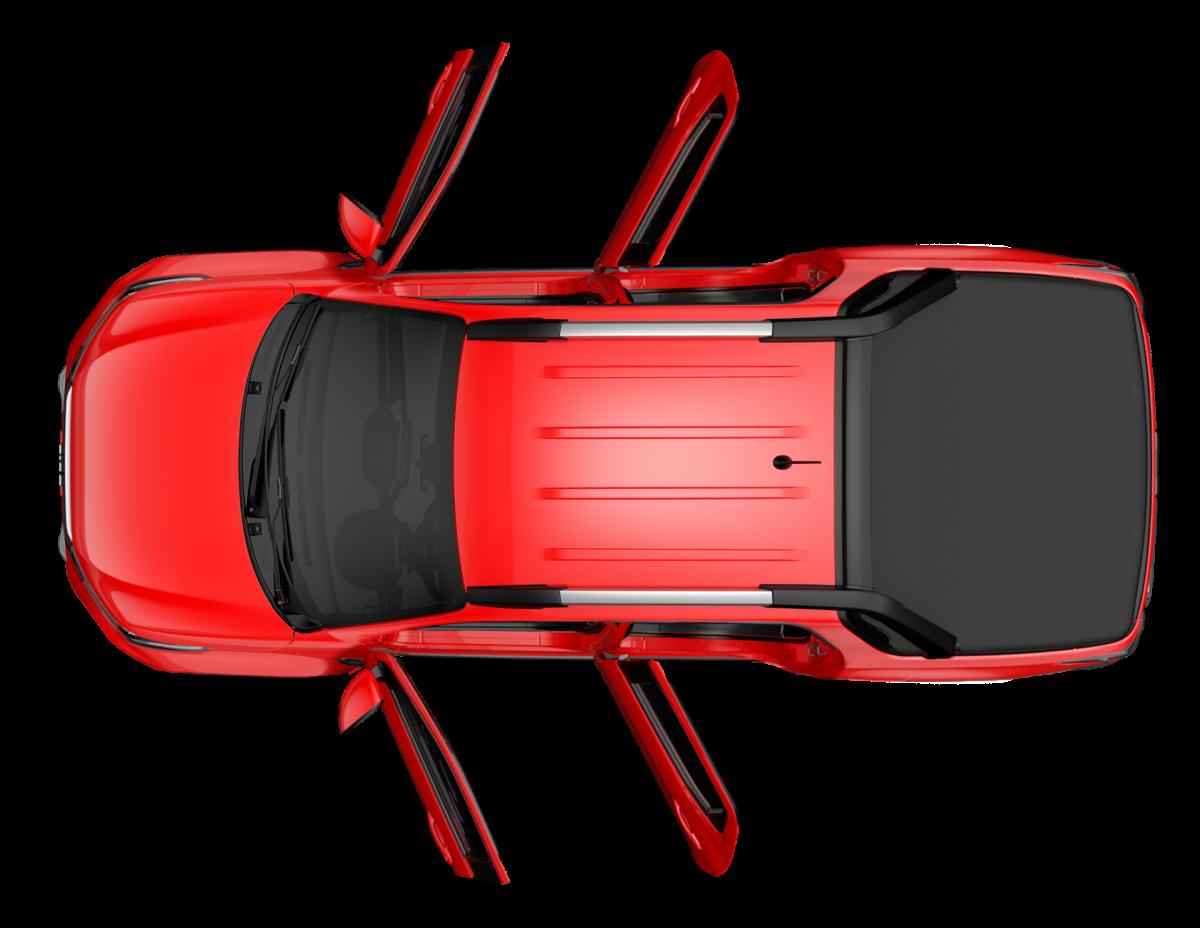 As quatro portas abertas da versão Volcano da Nova Fiat Strada