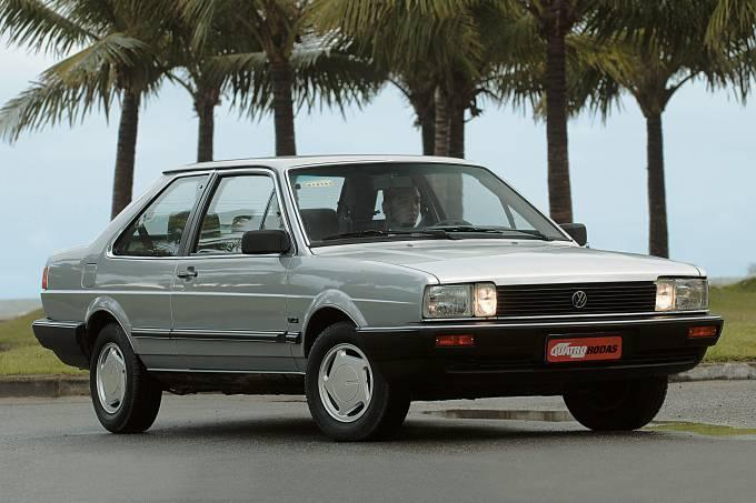 Santana GLS, modelo 1989 da Volkswagen, testado pela revista Quatro Rodas.