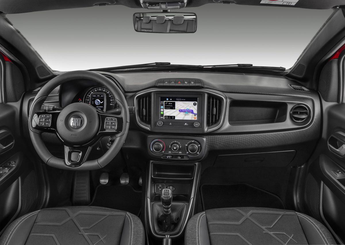 Nova central multimídia da Nova Fiat Strada