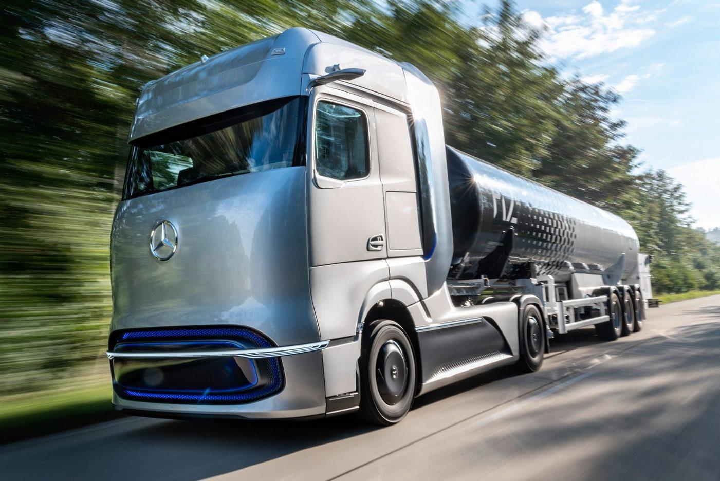Mercedes GenH2 é caminhão futurístico que troca diesel por hidrogênio