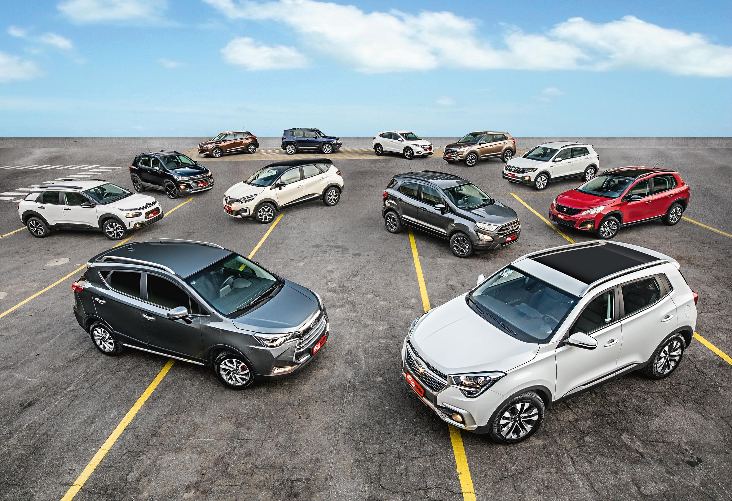 Fizemos o maior comparativo da história da Quatro Rodas, reunindo 12 SUVs