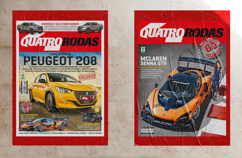 QUATRO RODAS de setembro: novo Peugeot 208 e McLaren Senna em duas capas!