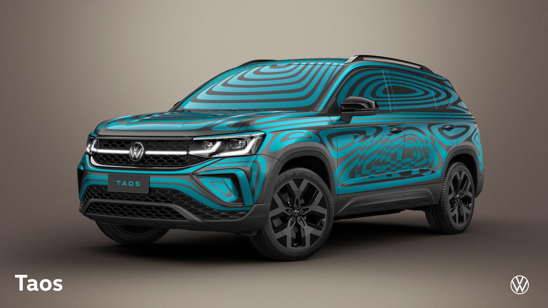 Volkswagen revela fotos exclusivas do TAOS com camuflagem moderna