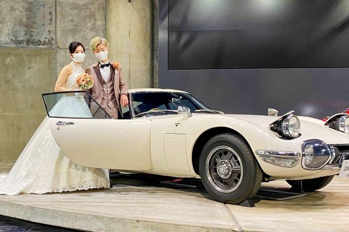 Casamento no museu do automóvel