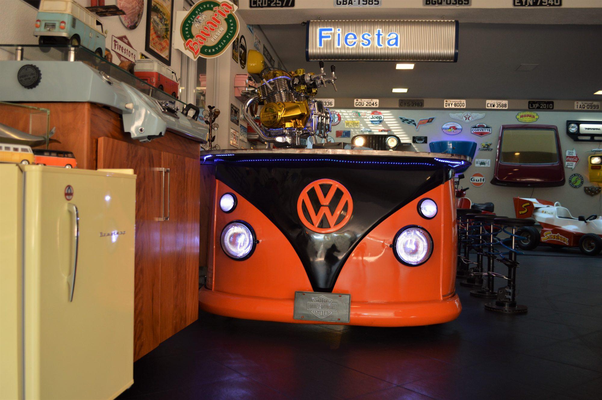 A chopeira foi feita com motor de moto Honda de 1300 cilindradas