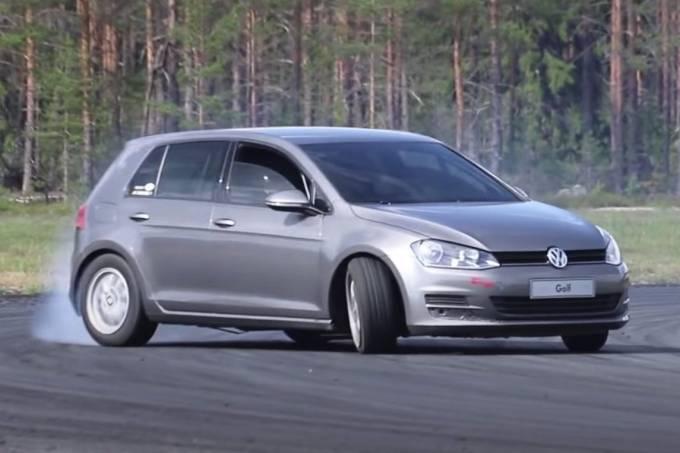 Golf V8 alterado para drift