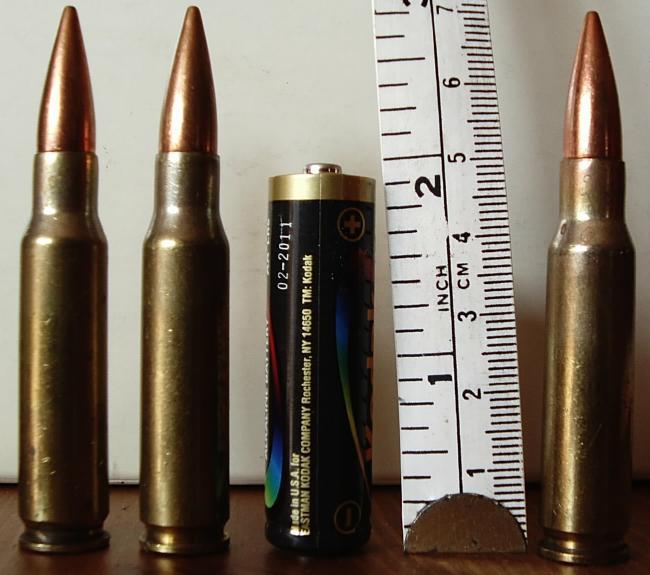 A 'gentil' munição 7.62 tem uso restrito, mas é contrabandeada