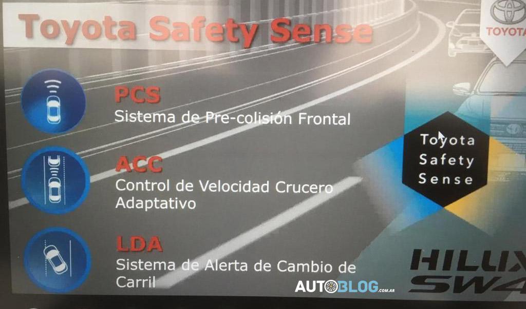 A filial argentina da Toyota tratou o pacote Safety Sense com um dos atrativos para os clientes