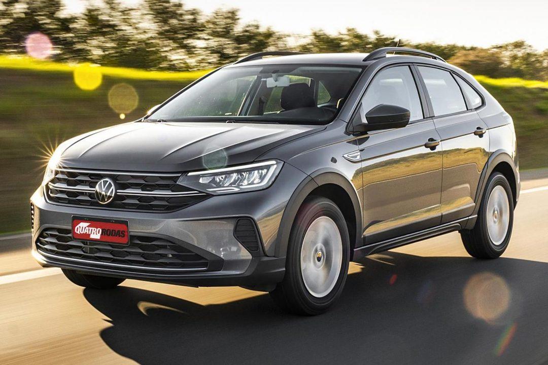 Volkswagen Nivus cinza de frente