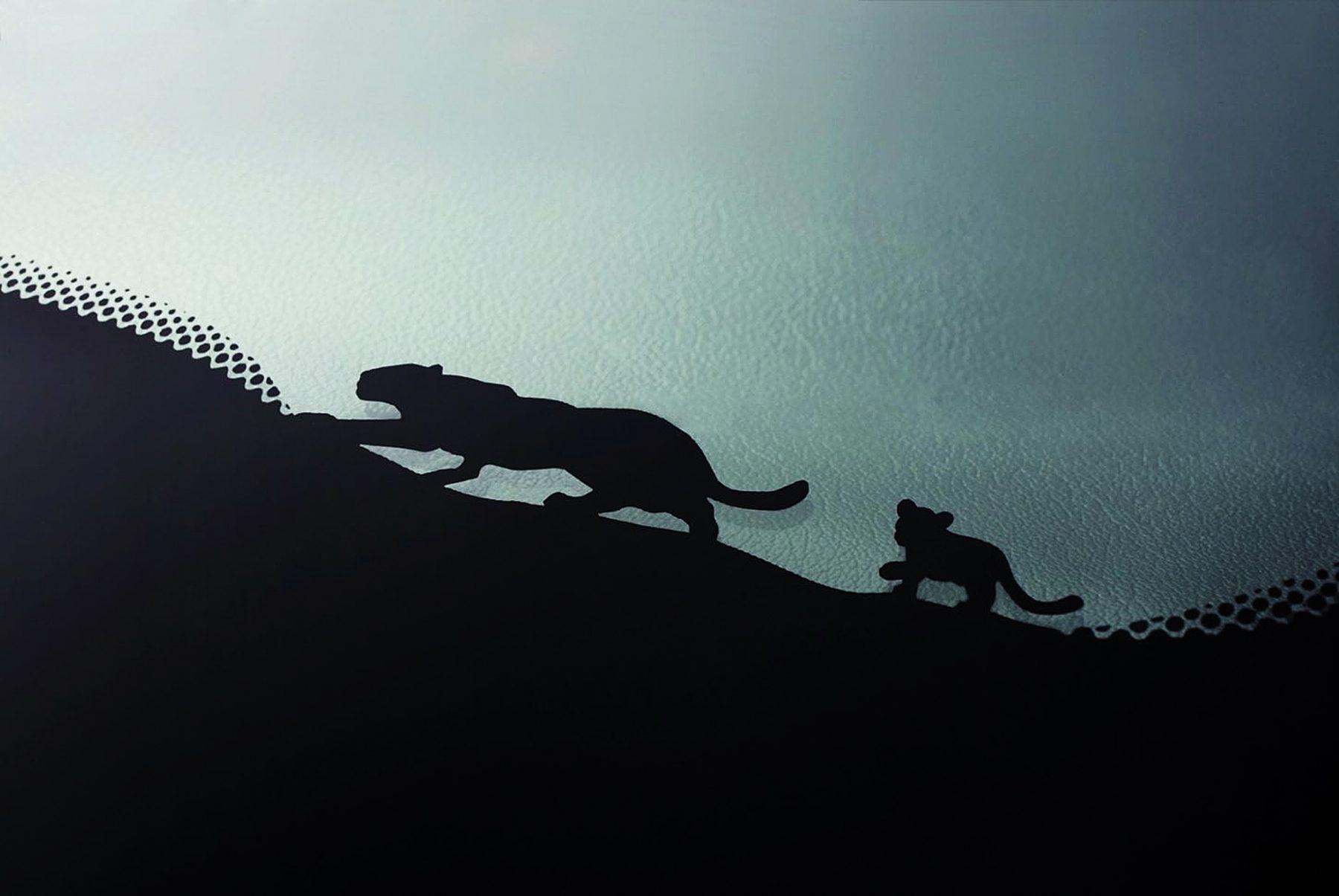 jaguar e filhote