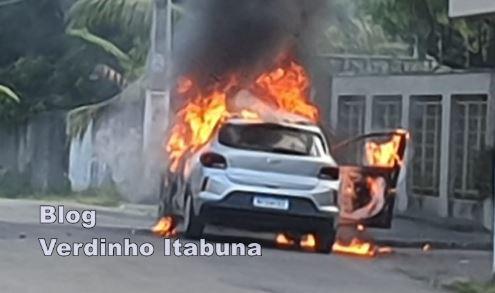 Onix 1.0 aspirado incêndio itabuna bahia