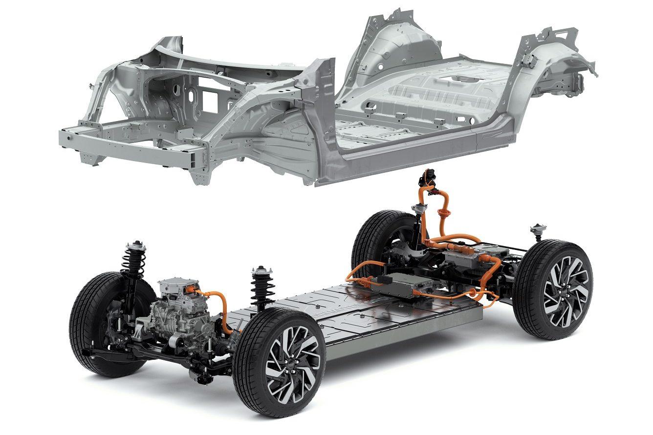 Visão geral da E-GMP, que será base para 23 carros elétricos até 2025