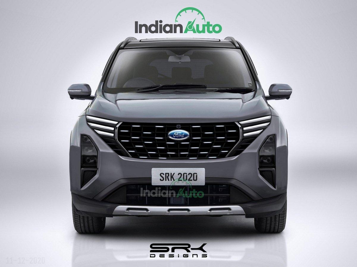 Representação do novo SUV da Ford baseada na foto vazada