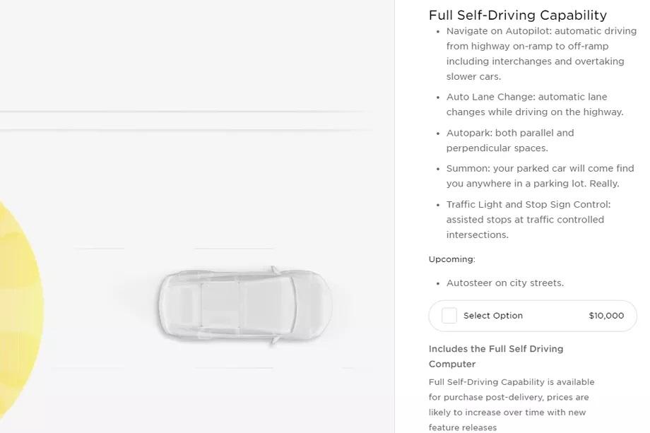Com tantas funções, não é surpresa que só o FSD custe mais que muitos carros