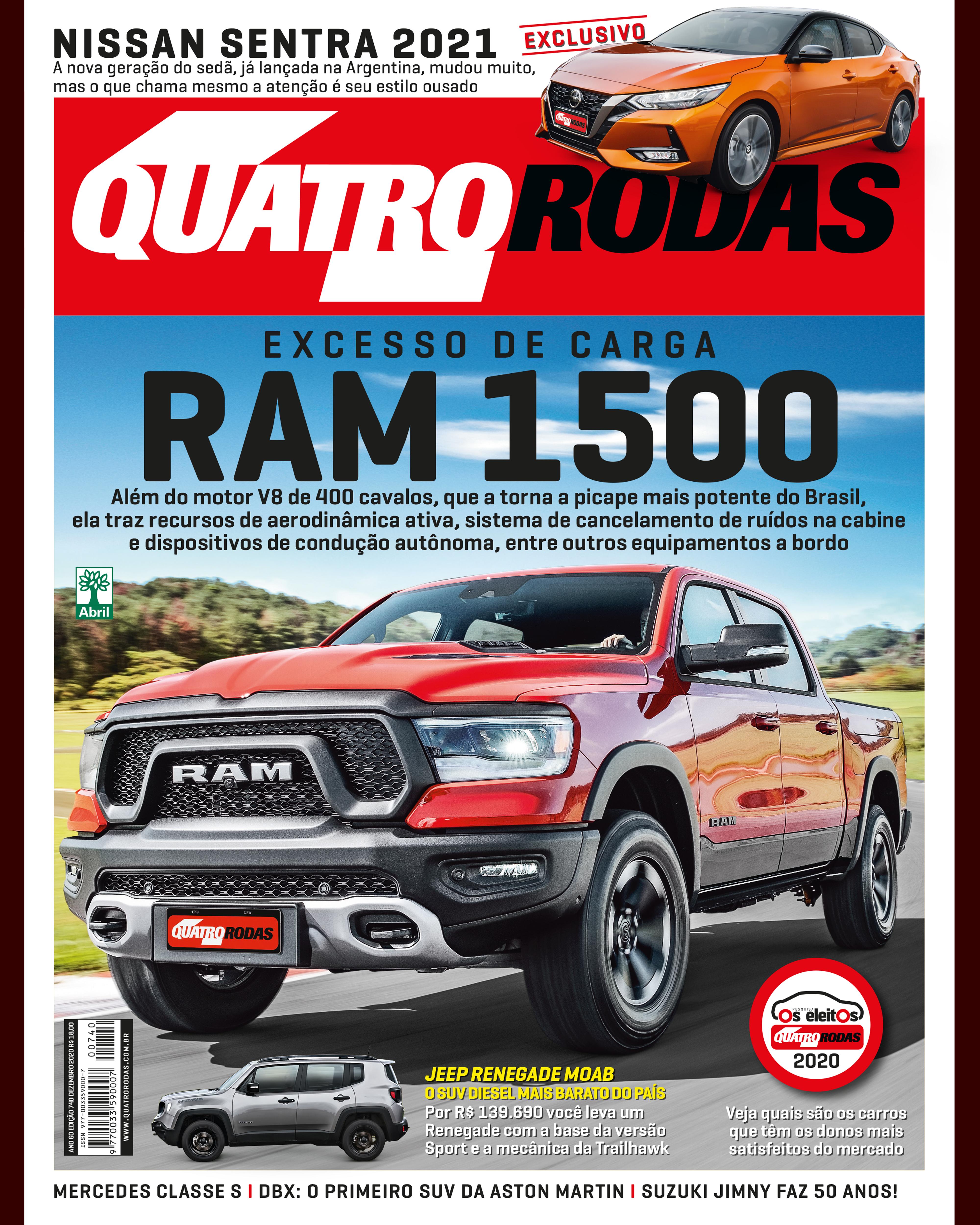 Capa Quatro Rodas edição de dezembro 740