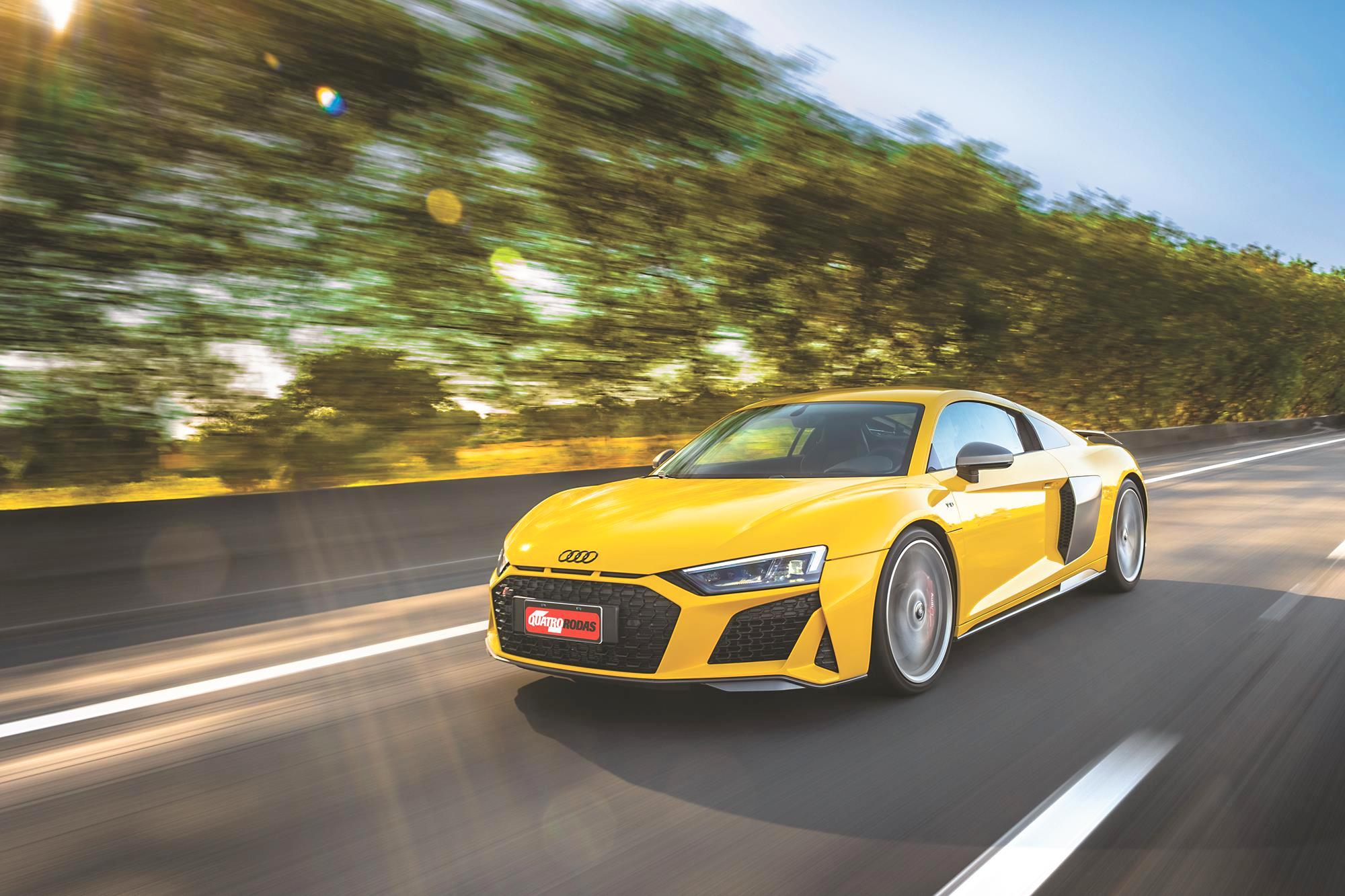Audi R8 V10 Performance 2020 amarelo