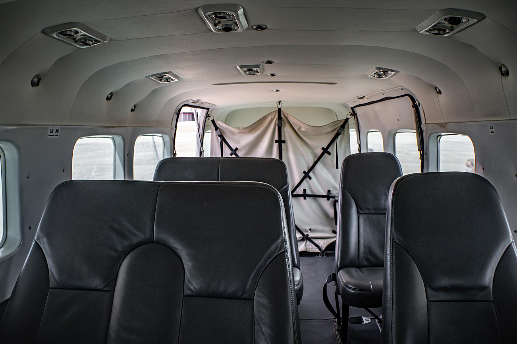 Bancos Cessna Caravan Azul
