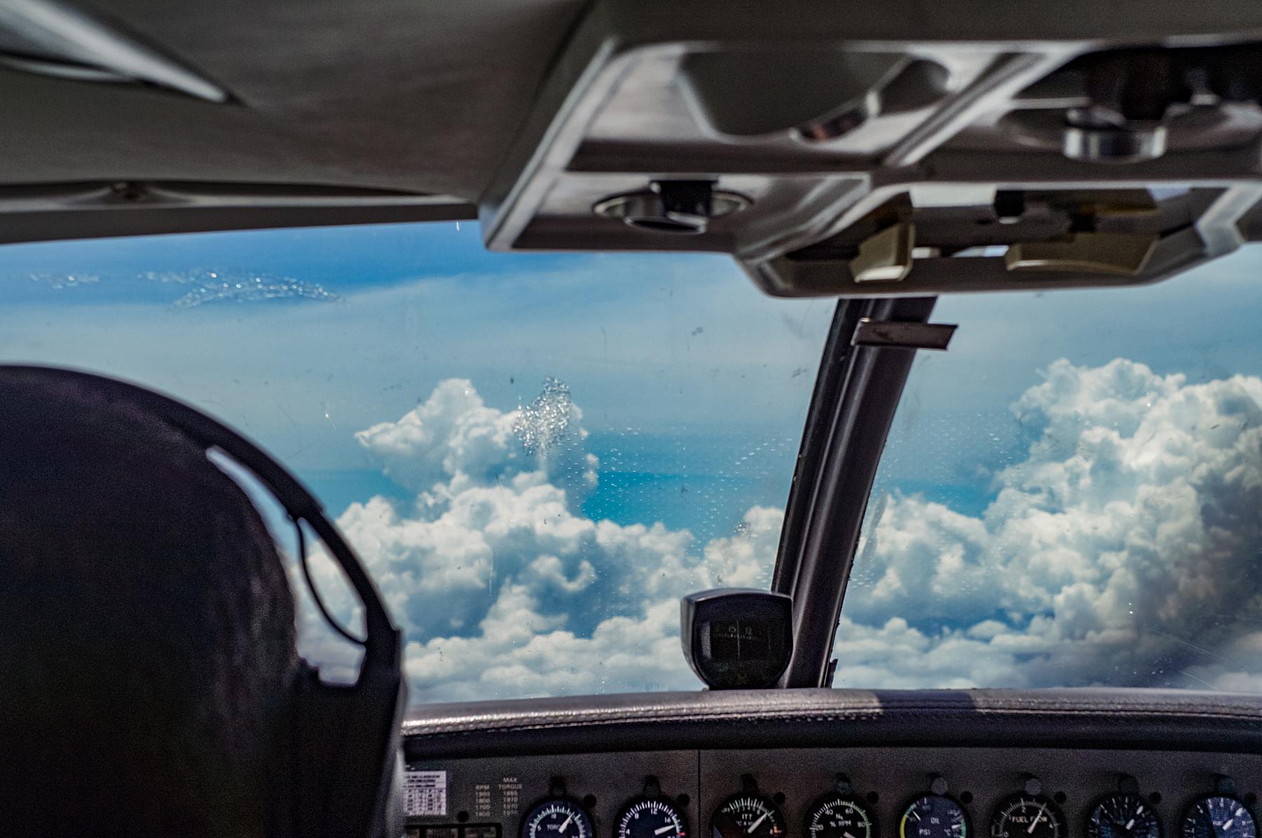 Cockpit Cessna Caravan Azul