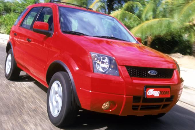 EcoSport, utilitário esportivo da Ford, testado pela revista Quatro Rodas.