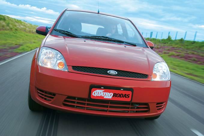 Fiesta 1.0 Supercharger, da Ford, da frota de testes da revista Quatro Rodas.