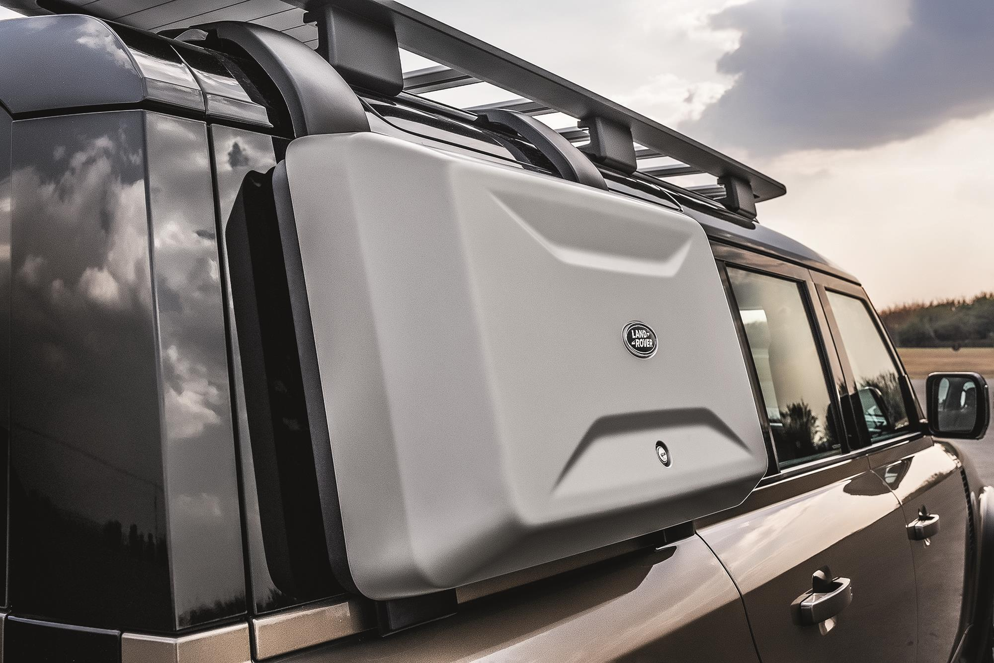 Land Rover Defender HSE 2021 porta objeto lateral