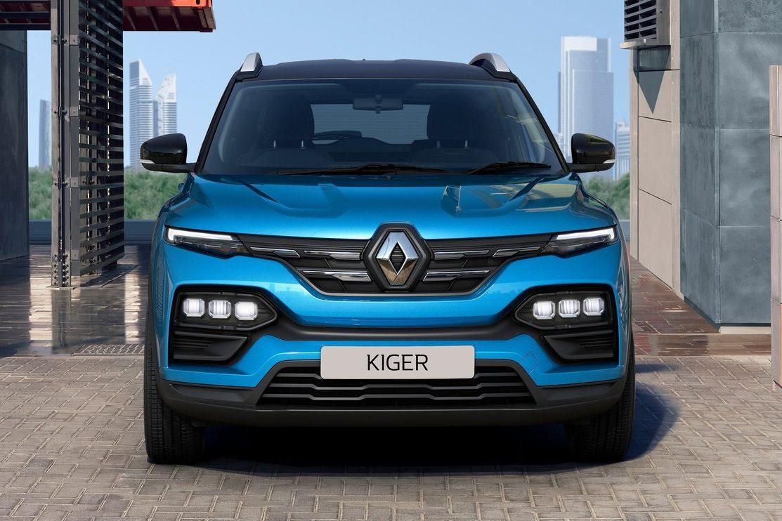 Dianteira do novo Renault Kiger 2022