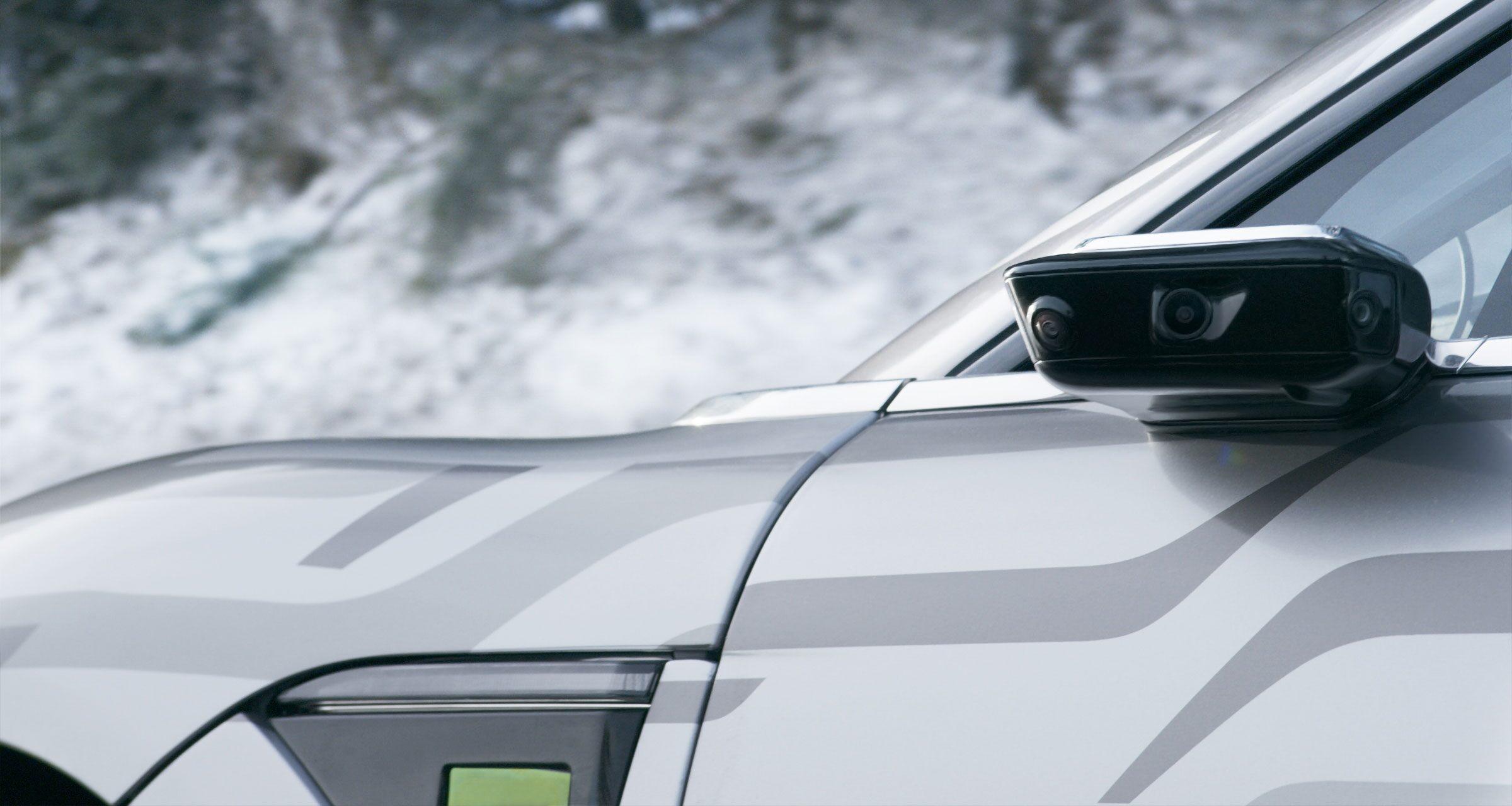 Retrovisores do Vision-S vão além do nome e permitem visão quase em 360º