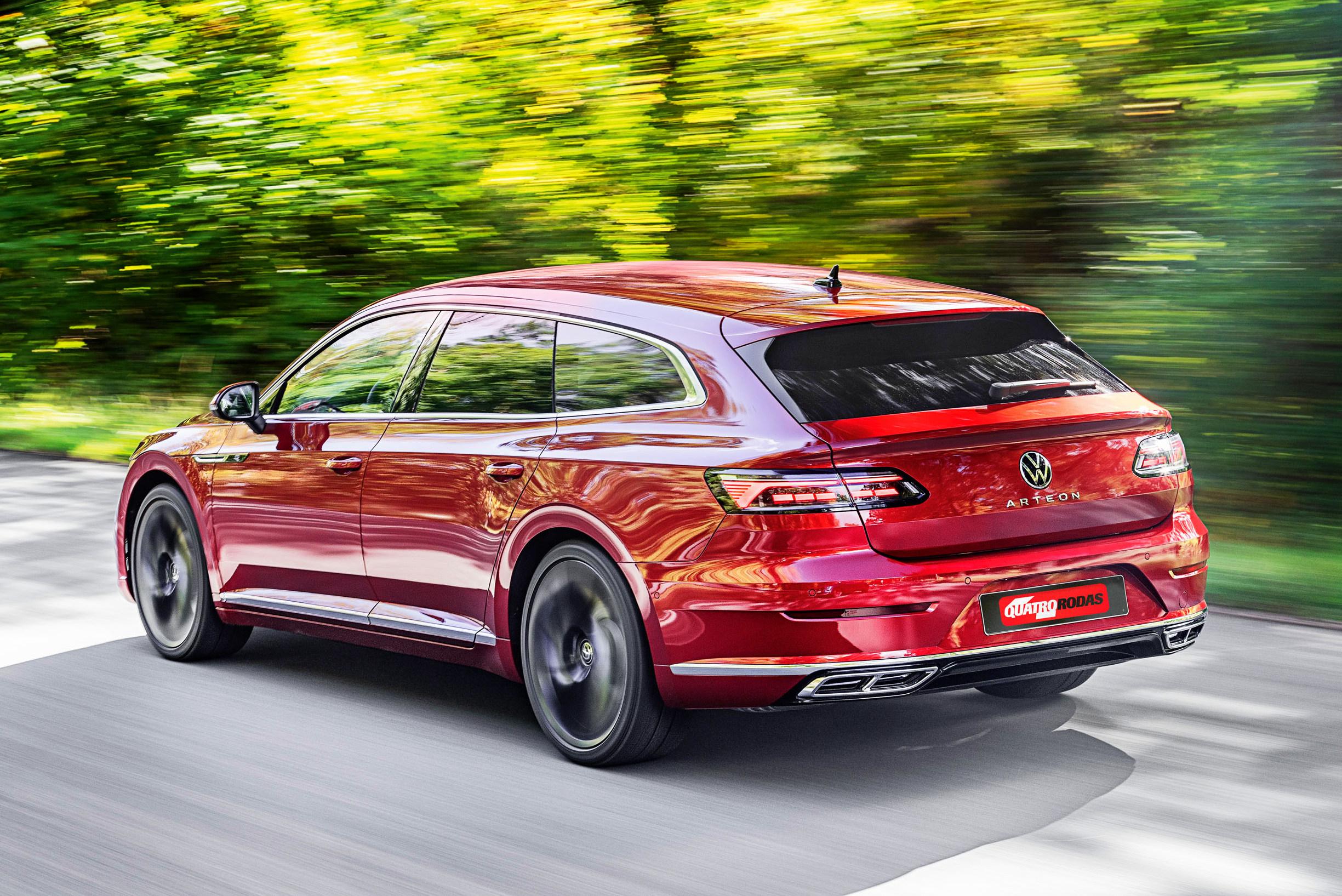 Volkswagen Arteon Shooting Brake vermelho traseira