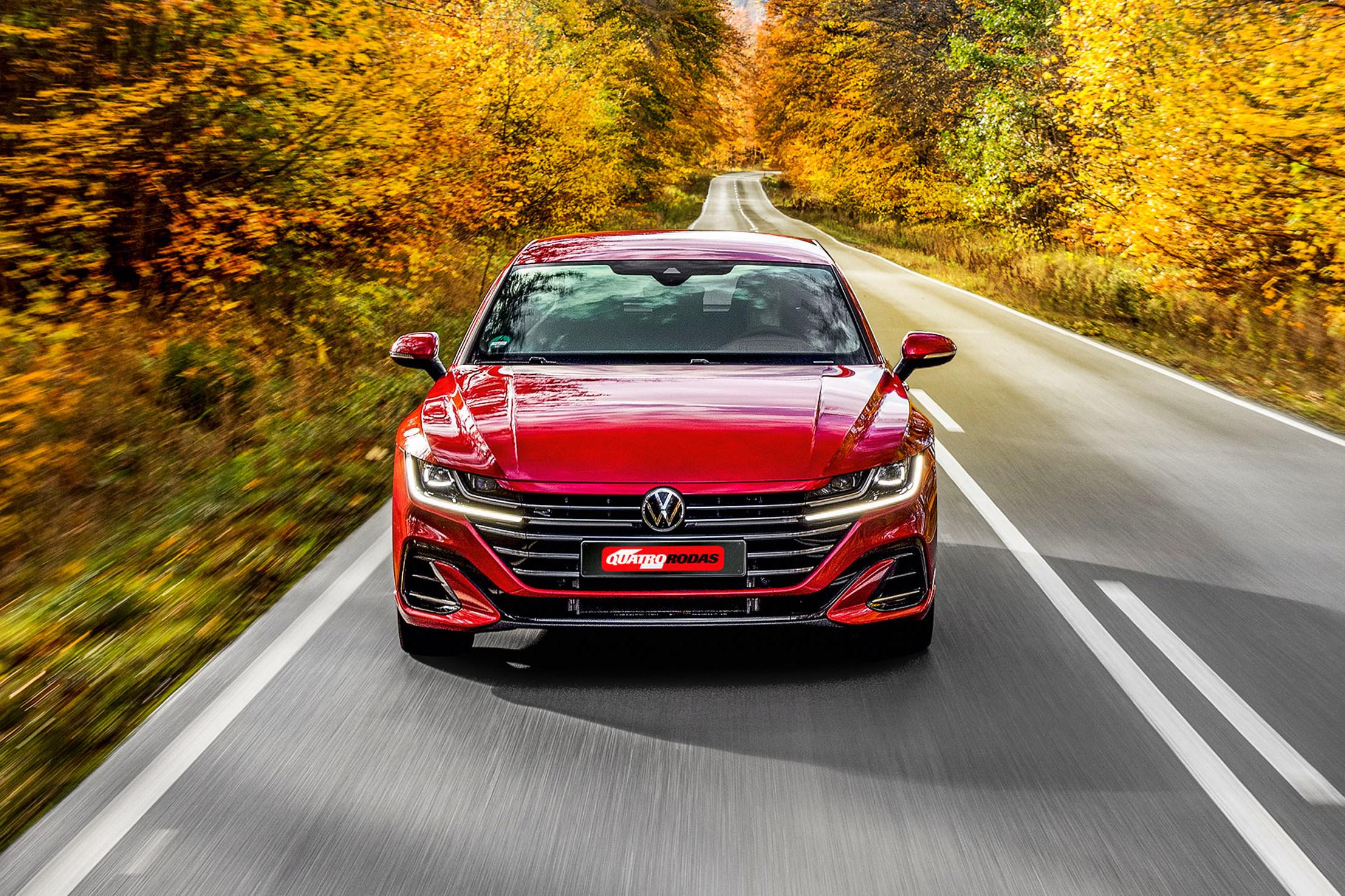 Volkswagen Arteon Shooting Brake vermelho frente