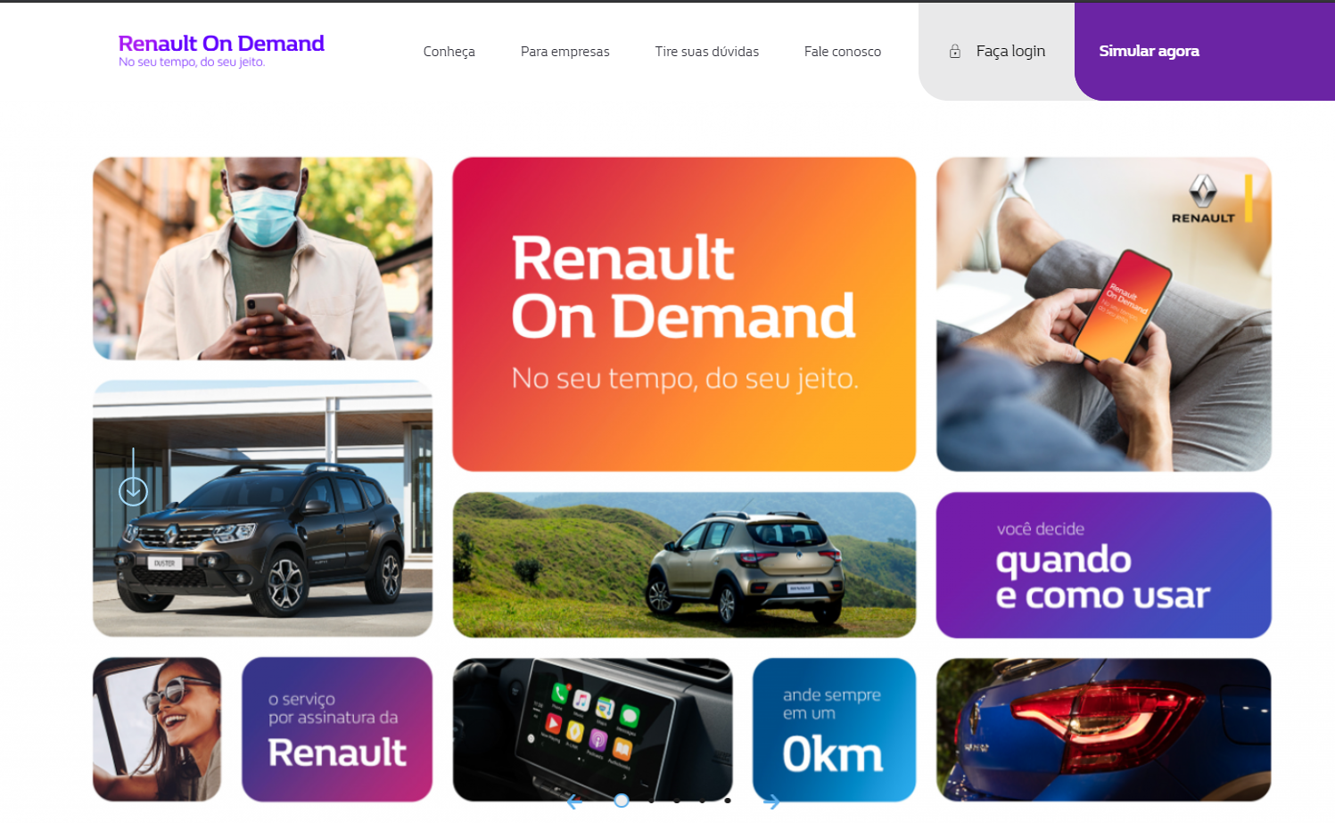 Interface do Renault On Demand