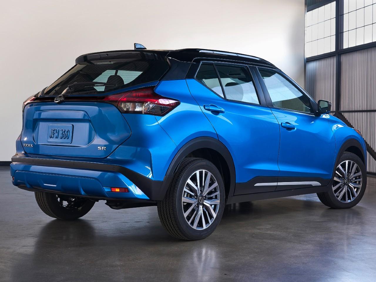 Traseira do novo Nissan Kicks 2021.