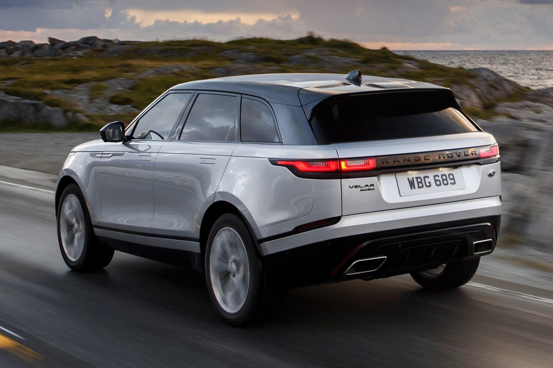 Traseira da nova Range Rover Velar 2021