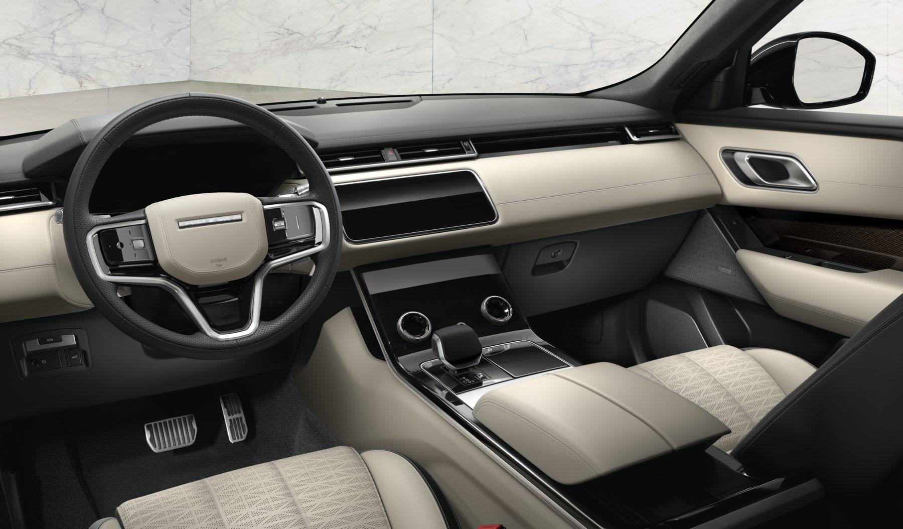 Interior da nova Range Rover Velar 2021