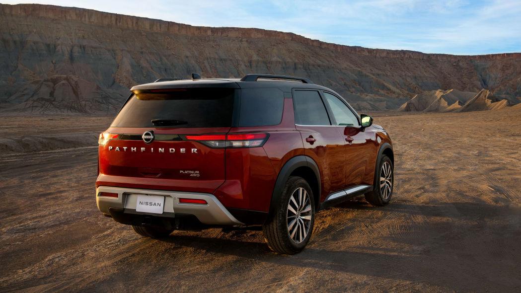 Traseira do novo Nissan Pathfinder 2022