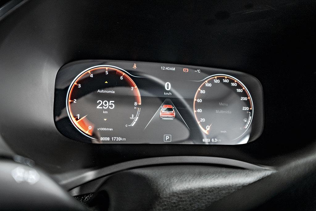 Quadro de instrumentos digital do SUV JAC T60 Plus