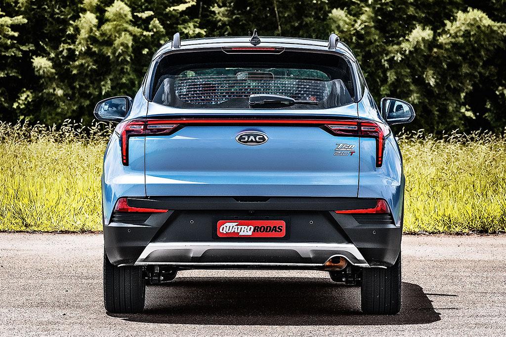 Traseira do SUV JAC T60 Plus azul