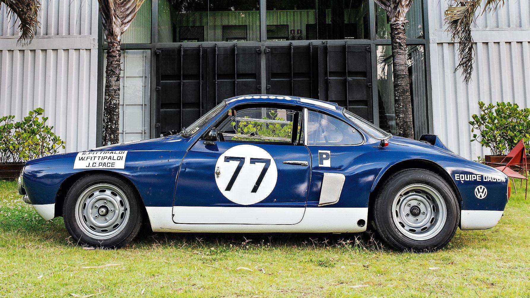 Karmann-Ghia Dacon 1966 lateral e rodas